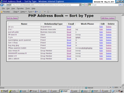Address Book Sort Contacts By Type