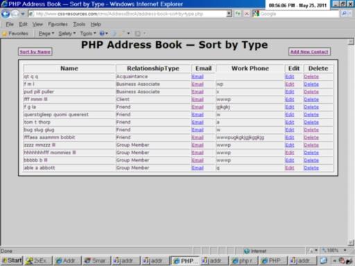 Address Book Application